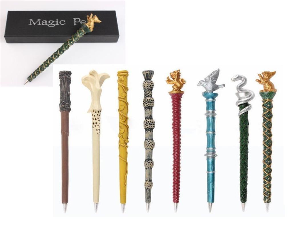 Niños novedad Harry Potter Magic Wand Pen Coleccionable Escuela Ballpoint Regalo Harry Potter Toy Stick Niños Regalo