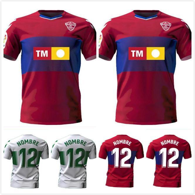 2020 2021 CF Elche Futbol Formaları Qasmi Nino Lolo Ivan Sanchez S. Kaba Dani Calvo Ramon Folch Ferriz Özel 20 21 Eve Uzaktan Futbol Gömlek