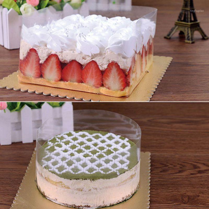 Другие праздничные партии поставляет торт диски прозрачный мусс жесткий окантовки мягкий одноразовый сейф 8 / 10см для украшения A1