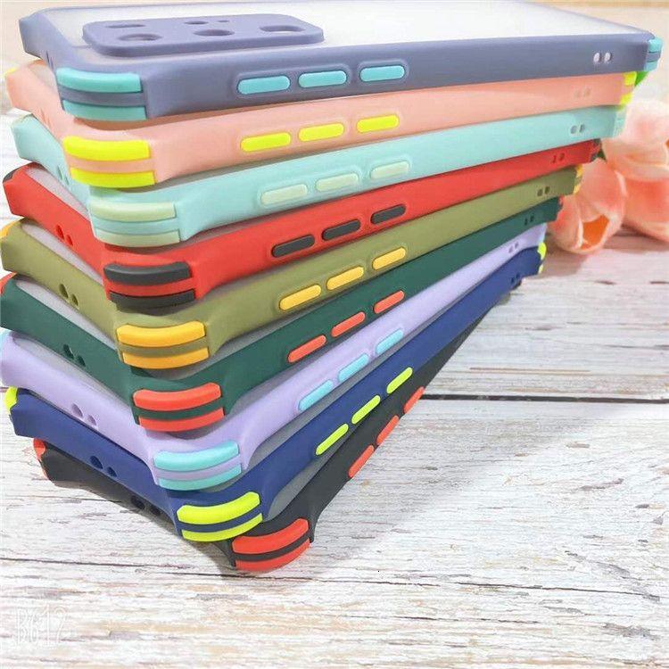 Telefon 12 11 PRO XR X XS MAX 8 7 6 Plus Treffer Farbe Stoßfest Rüstung Telefon Fall Matte Harte Schutzhülle für Sam Sung S