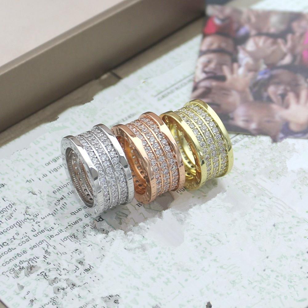 الجملة عالية الجودة الرجال ووم الماس الدائري مجوهرات مثلج خارج التسلق هدية البنصر المقاوم للصدأ لا تتلاشى خواتم الذهب مصمم الربيع
