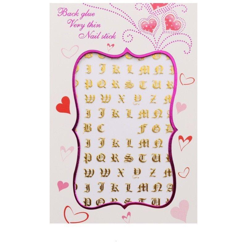 Punk Style Carta Prego Decalque Hot Stamping Prata Cor Dourado Cores Mulheres Beleza Nail Art Adesivo Moda Venda Quente Dicas Pegajosas 1LR L2