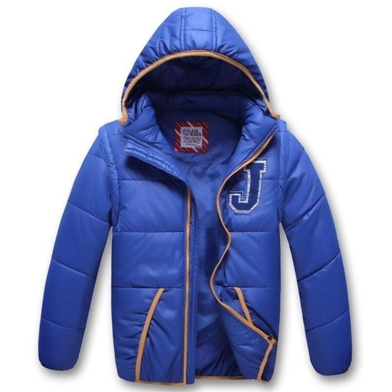Верхняя одежда Winterbreaker Ветрозащитный Пальто мальчик Жилет Пальто съемной кепки Рукав осень зима дети куртка для детей с капюшоном для мальчиков LJ201017
