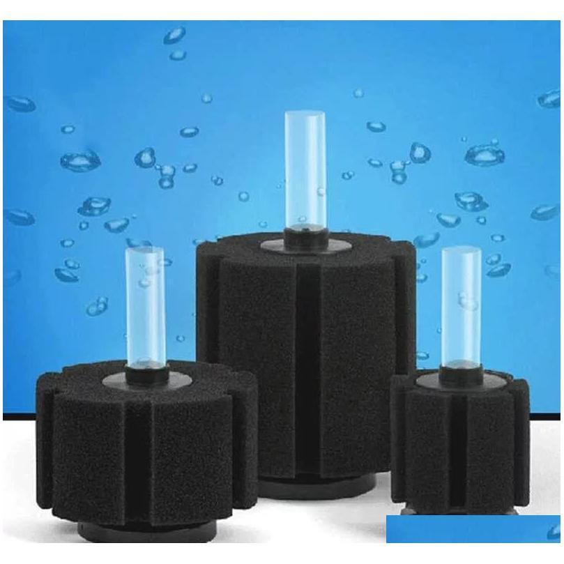 6pcs/lot Aquarium Sponge Fry Filter Air Driven Biochemical Fish Tank Corner Filter Filtration Biochemical S qylsEs packing2010