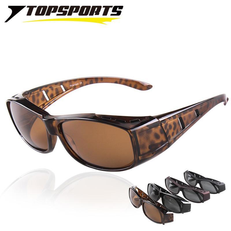 Topsports Lunettes de soleil Polaroid Contez sur les lunettes de soleil UV400 Protection Hommes Femmes Myopia Cadre Cadre lunettes pour la conduite de pêche à pied J1211