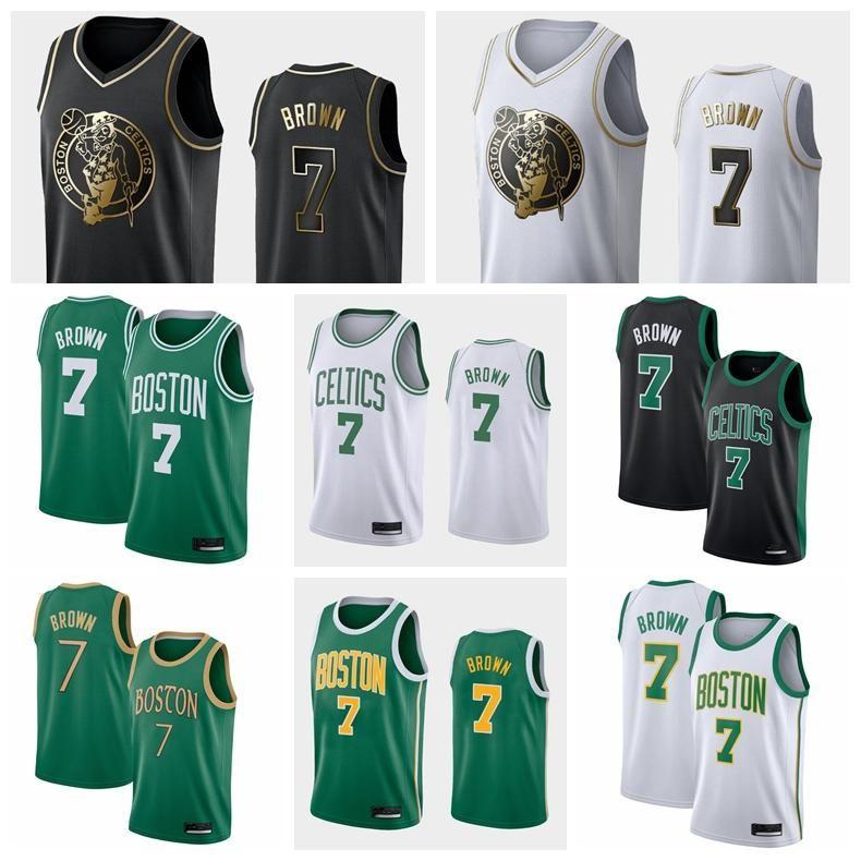NCAA 2019-20 Hombres BostonCelticsHombres Jaylen Brown # 7 Baloncesto Jersey Association / City / Declaración Jerseys