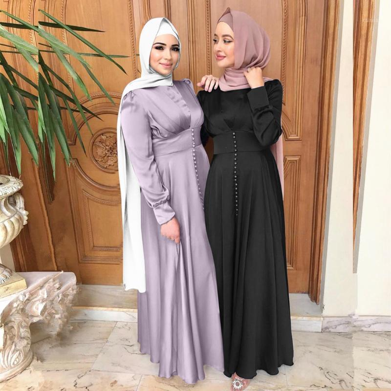 Etnik Giyim Robe Femme Hiver 2021 Müslüman Moda Başörtüsü Elbise Abayas Kadınlar için Dubai Abaya Turkey Eid Mübarek İslam Kaftan Kaftan1