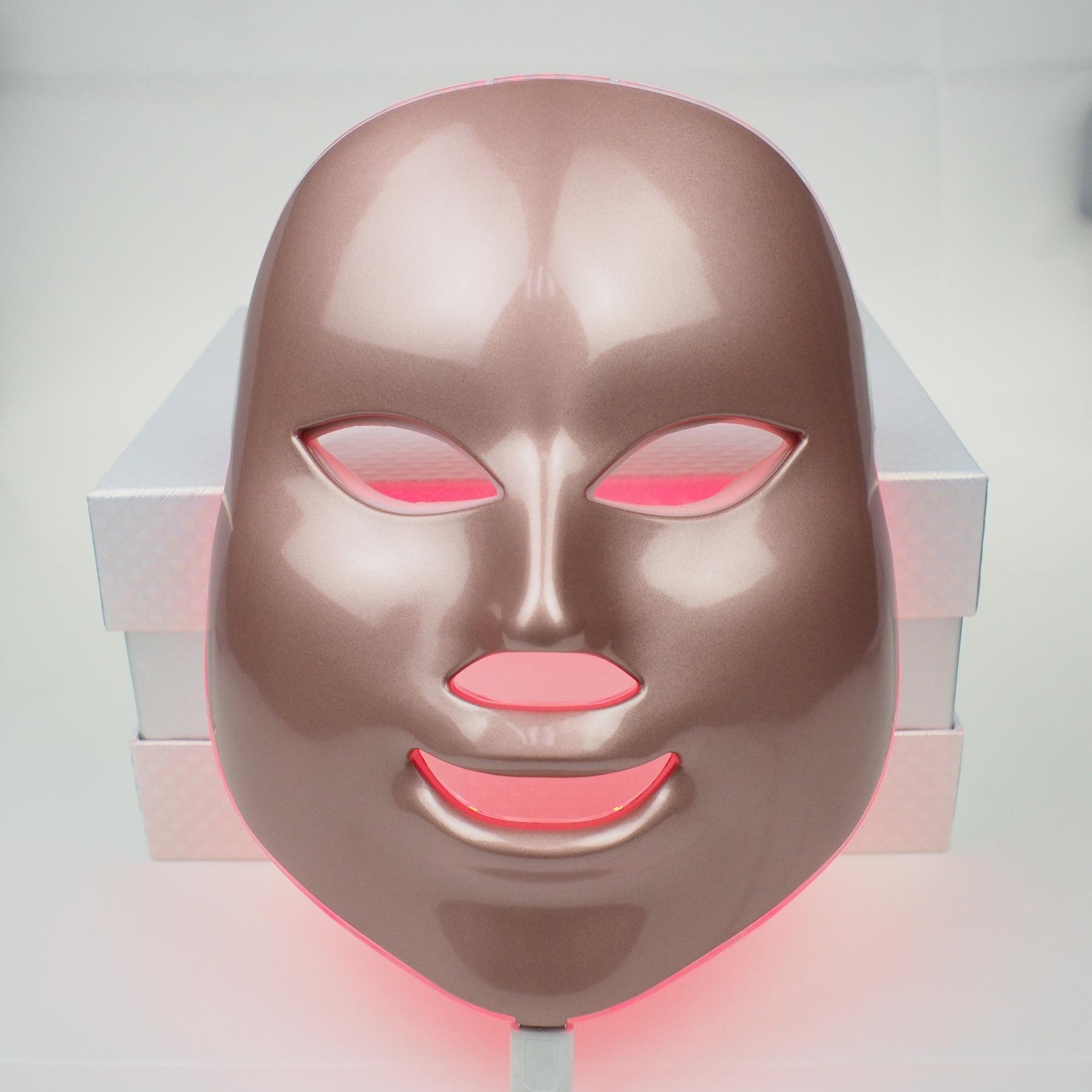 7 لون pdt أدى ضوء العلاج الضوئية قناع الوجه للوجه لتجديد الجلد مكافحة الشيخوخة آلة الجمال مكافحة حب الشباب