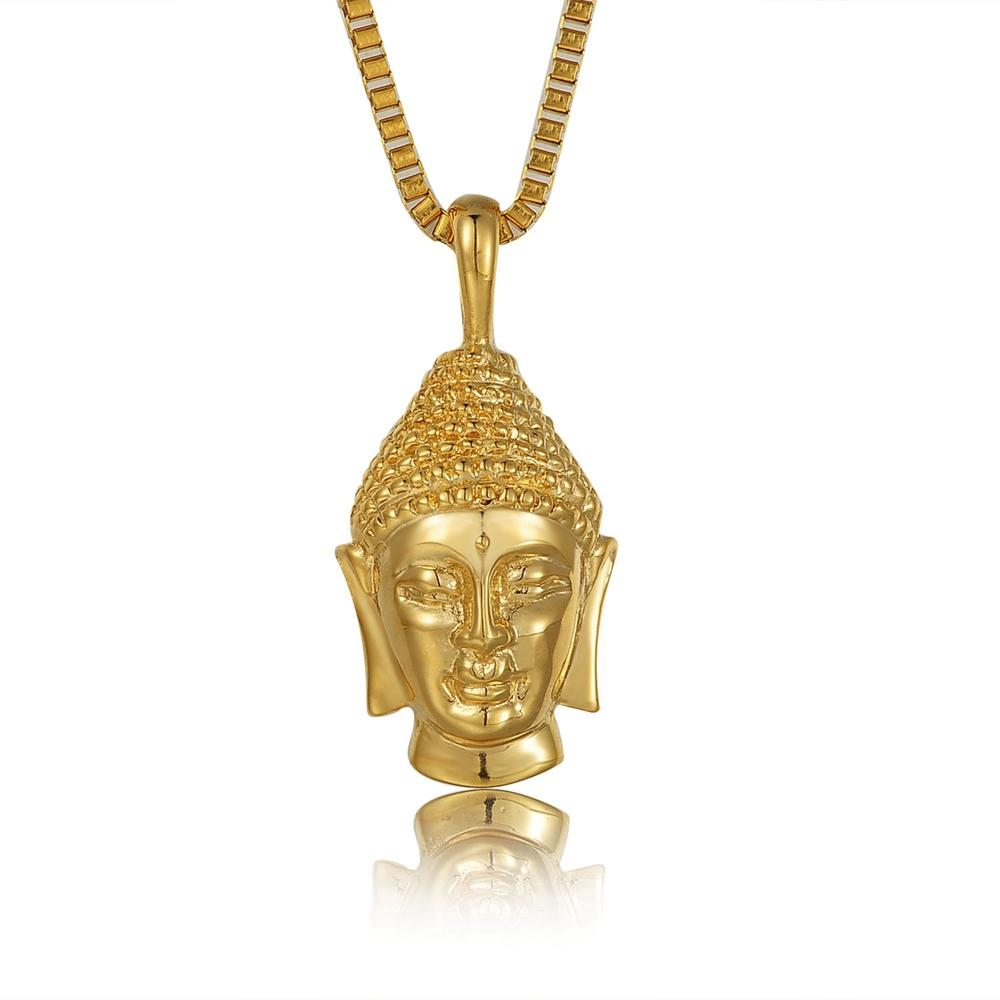 SDA High Quality Religious Jewelry Charm Buddha Pendant Necklace For Men Women Gold Color India Jewelry