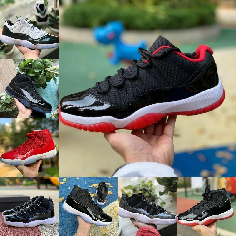 بيع جديد bred 11s 11 الرجال النساء أحذية كرة السلة كونكورد 45 انخفاض كولومبيا كاب و ثوب عيد الفصح مربى مصمم أحذية الرياضة المدربين
