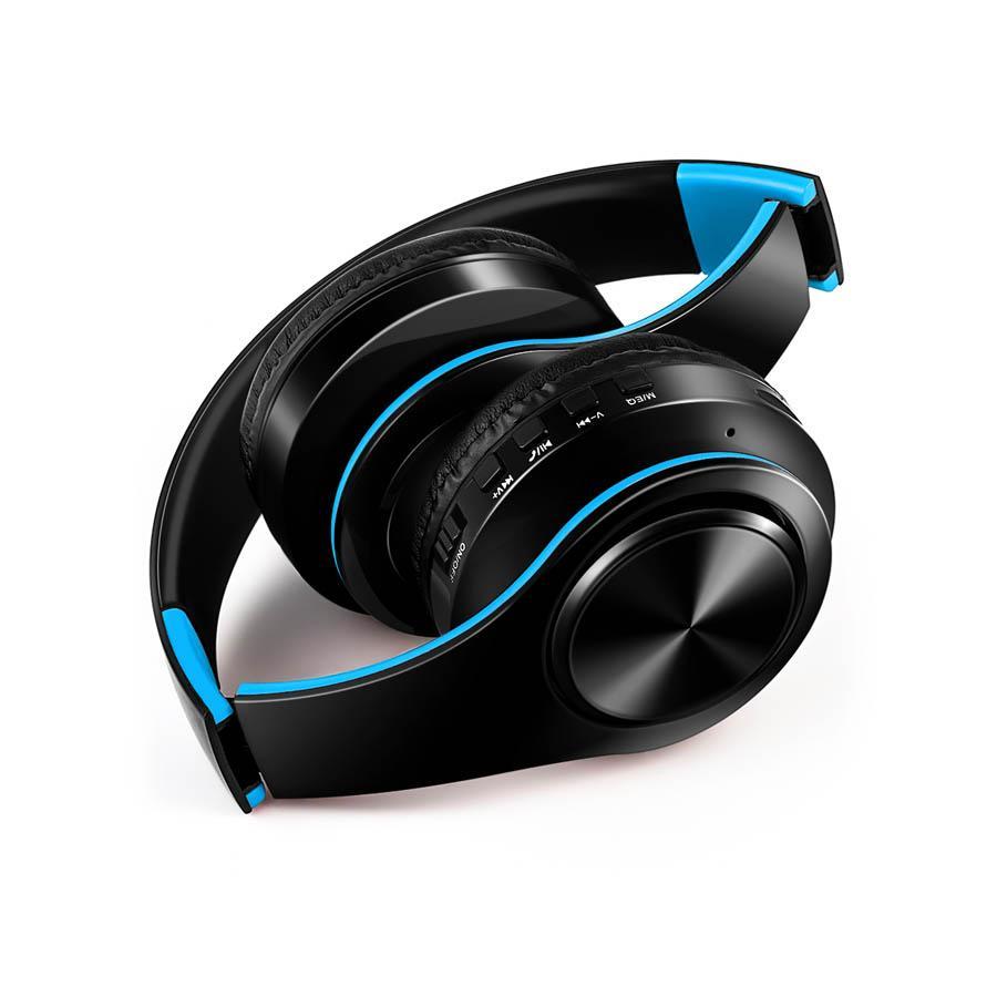 Fones de ouvido sem fio Bluetooth sobre a orelha estéreo de fone de cabeça dobrável headset suporta cartão tf mp3 player com microfone para pc / celulares / televisão