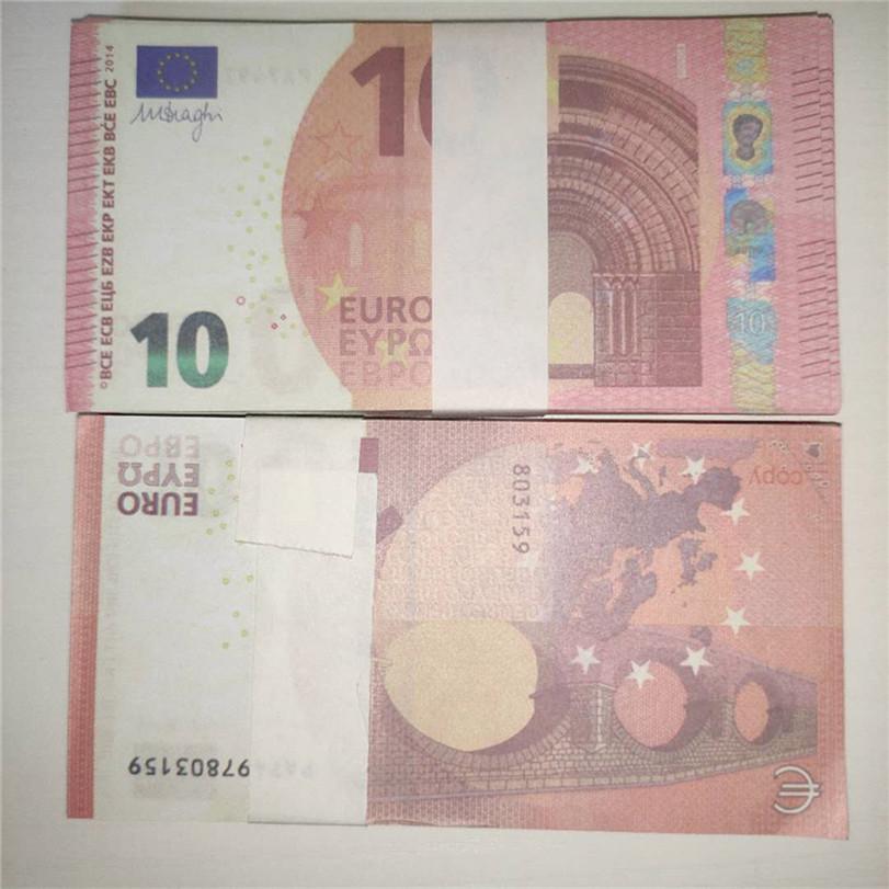 2020 Cross-frontière Chaud Selling Magic Props Atmosphère accessoires Amis Collecte de la famille Dîner Simulation Monnaie 10 EUR A1