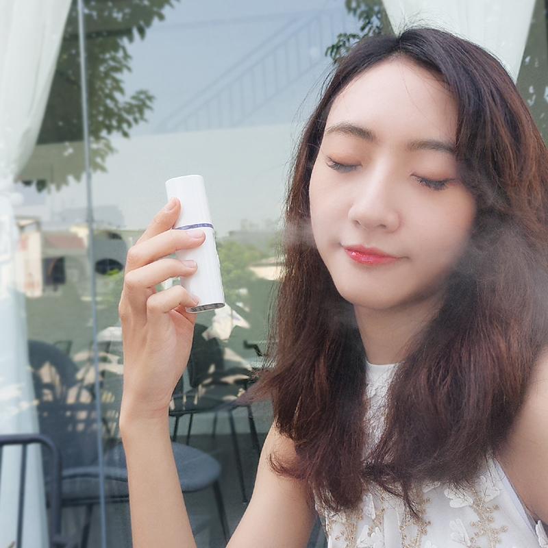 Miroir mini nano pulvérisateur hydratant facial à la vapeur USB chargeable appareil appareil humidificateur beauté outil de soin de la peau l2