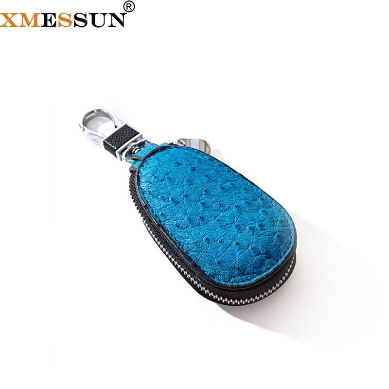 Neue echte Tasche Key Gourd Key Bag Mode Mini K195 Strauß Ins Creative Stick Diamant Leder Xmessun Auto Leder NHTMU