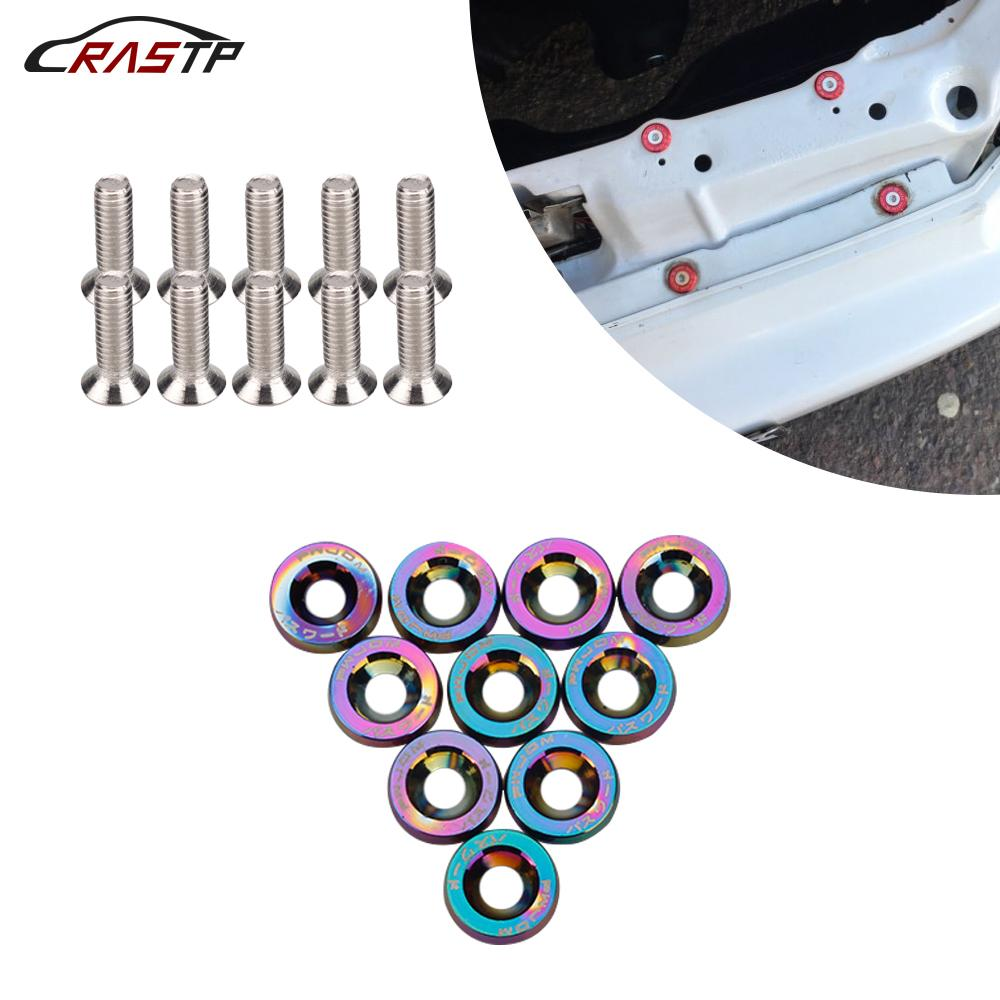 Hot Selling USA STOCK JDM Style Fender Washers (10pcs/Pack) Washers and Bolt Aluminum for Honda Civic Integra RSX EK EG DC RS-QRF002