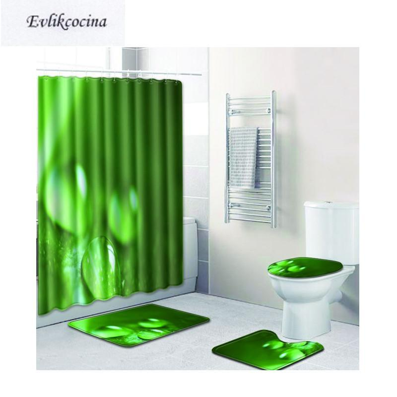 Бесплатная доставка капель воды Casa de Banho Banyo ванной комнаты ковер туалет туалет коврик для ванны набор не скольжения Tapis Salle de Bain Alfombra Bano