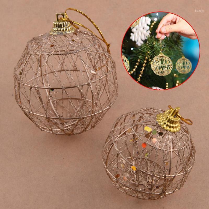 6шт рождественская елка рождественские блестки шарики украшения безделушки партии свадебный орнамент довольно 5см 6см аксессуары1