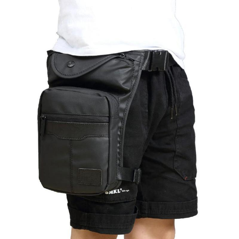 Hombres impermeable Oxford Drop Bag Bag Cintura Fanny Pack Belt Hip Bum Viajes Motocicleta Multiusper Messenger Bolso Hombro