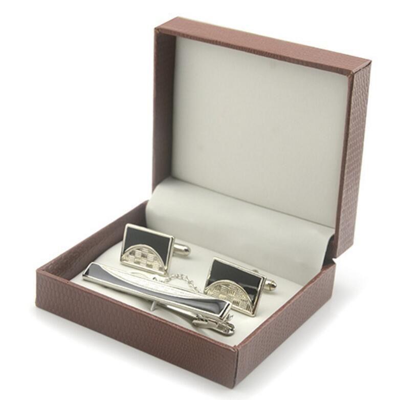 Los mejores regalos para hombres Necktie Bar Clasp Cuff Link Bussiness Tie Tie Clip Gemelos Conjunto para envío gratis