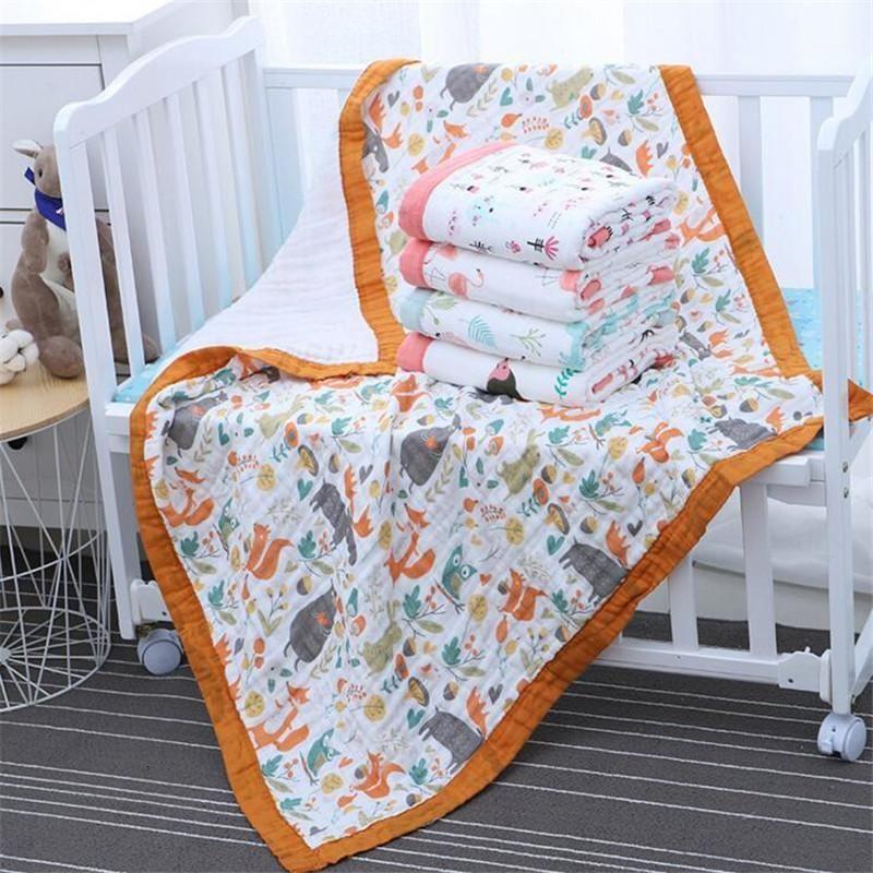 29 estilos 110 * 110 cm 120 * 150cm 6 camadas muslin algodão bebê dormindo cobertor Swaddle respirável infantil crianças crianças bebê cobertor1
