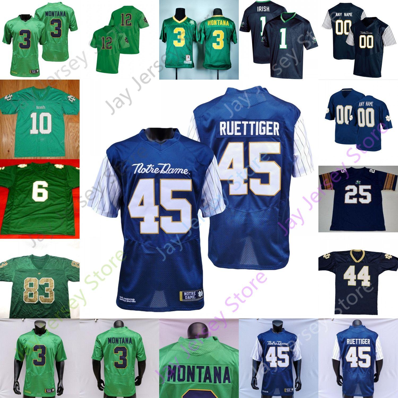 Fighting Irish Football Jersey NCAA College Manti Te'o Josh Adams Geremia Owusu-Koramoah Chase Claypool Nelson McGlinchey Fuller Smith