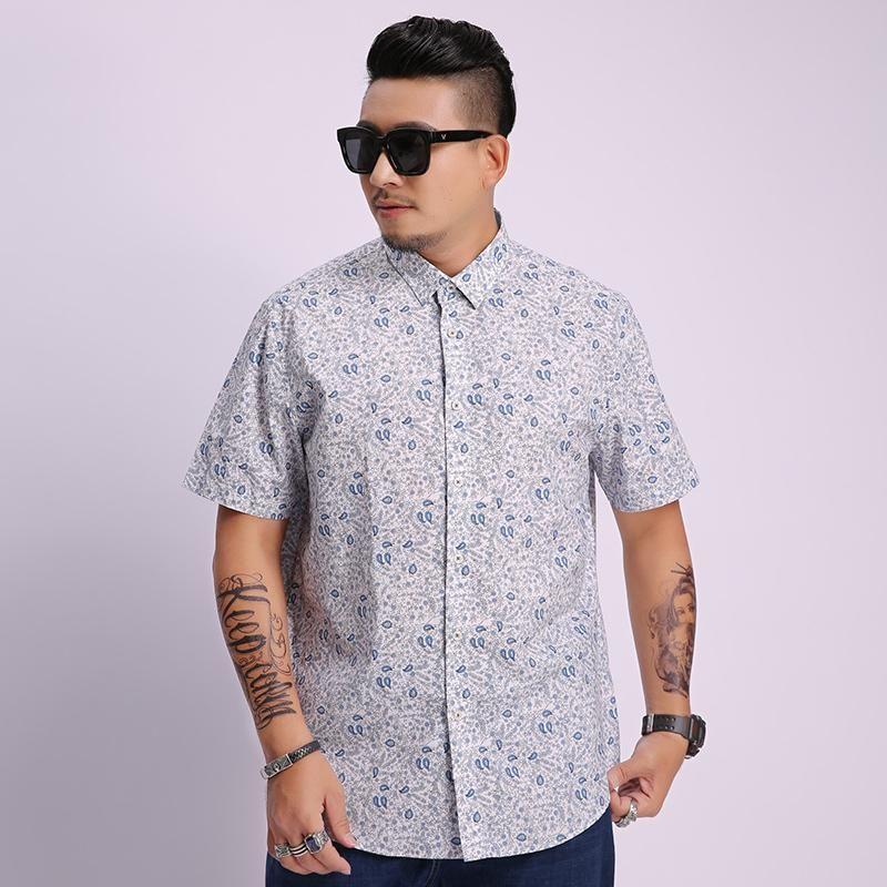 Camicie casual da uomo 8xl 6xl 5xl Mens Summer Beach Spiaggia Hawaiian Shirt a manica corta Plus Size Uomini floreali Abbigliamento vacanze Vacanze Camisas