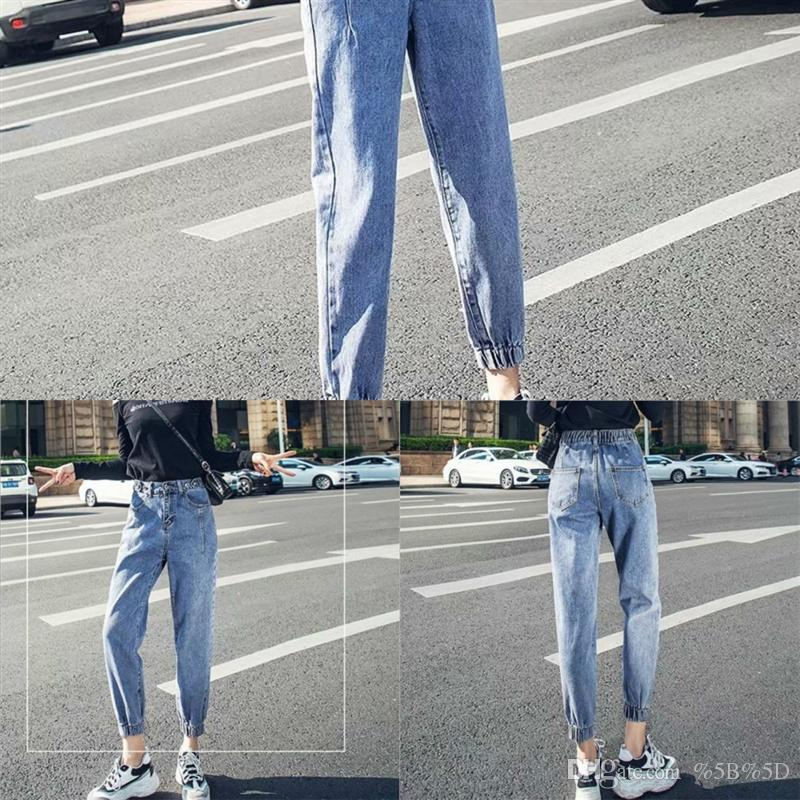 adiK Designer Sexy Women Straight Pierced Tassel Slit Denim Pencil Pants Casual lady Pants Ladies Jeans jeans Fashion Leisure