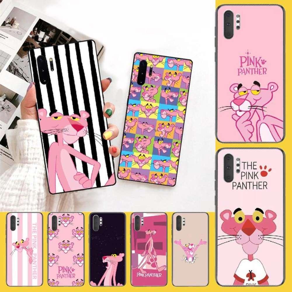Penghuwan Güzel Pembe Panter Bling Sevimli Telefon Kılıfı Samsung Note 3 4 5 7 8 9 10 Pro M10 20 30