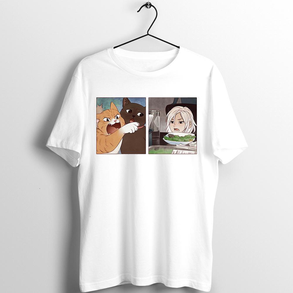 Unisex T Shirt Homens Mulheres Fogo Emblema Três Casas Meme do ano Mulher Gritando em um gato impresso arte impresso arte artwork tee roupas