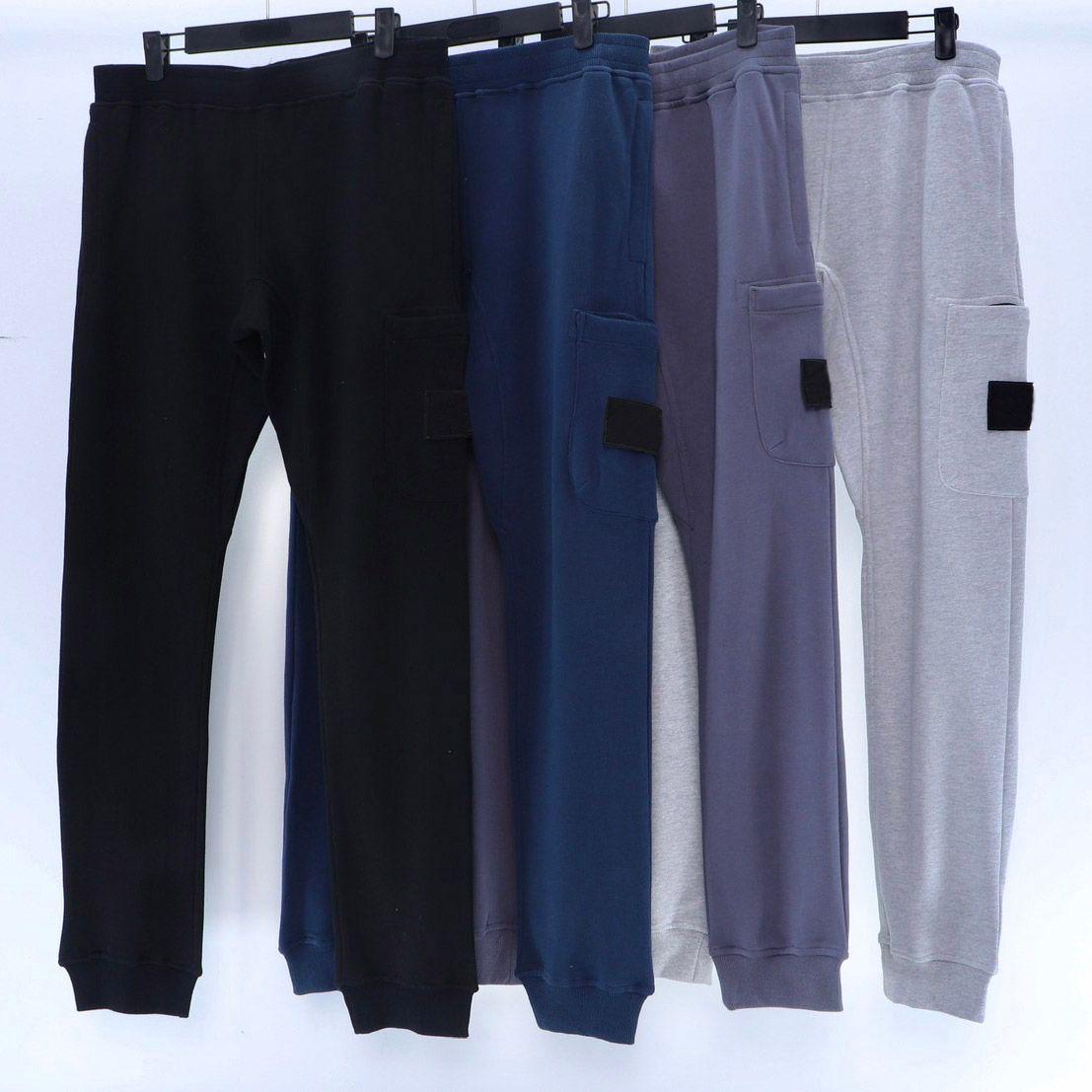 20FW Rozeti Yamalı Erkekler Pantolon Klasik Parça Pantolon Kadınlar Için Erkek Jogger Sweatpants Uzun Pantolon Homme Giyim