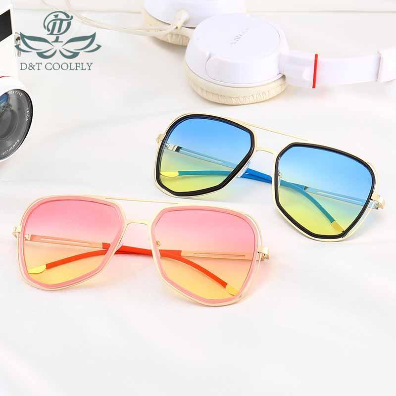 For New UV Trend Women Casual Ocean Sunglasses Blue Shading Colorful Mirror Sunglasses D&T Fashion Traveling Protection Sunglass Dlhei