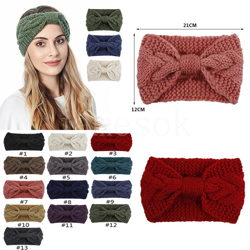 13 Couleur Bandeau de laine Bandeau de laine Bande de cheveux en plein air Sports Sports Accessoires de Cheveux Yoga Bandeau de la tête Favoris DB256