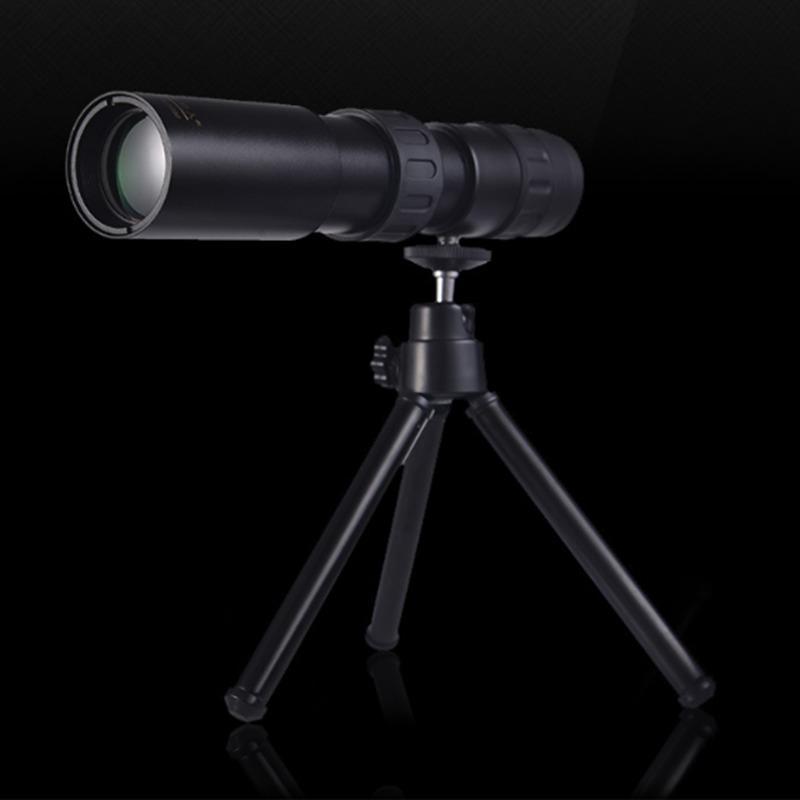 Оригинальный 10-100x32 Монокуляр телескоп высокого качества Карманный Бинокль Охота Оптический Prism Диапазон с треногой