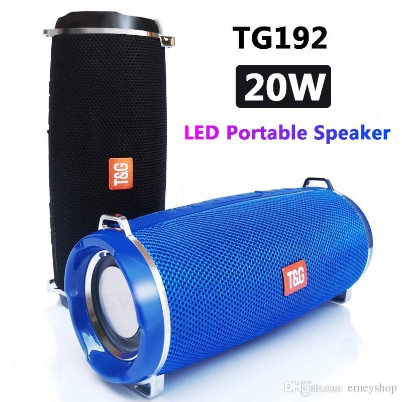 Poderoso TG192 Portátil Bluetooth Speaker Outdoor Coluna Computador Sem Fio Sem Fio Subwoofer Boombox Music-Center-Radio