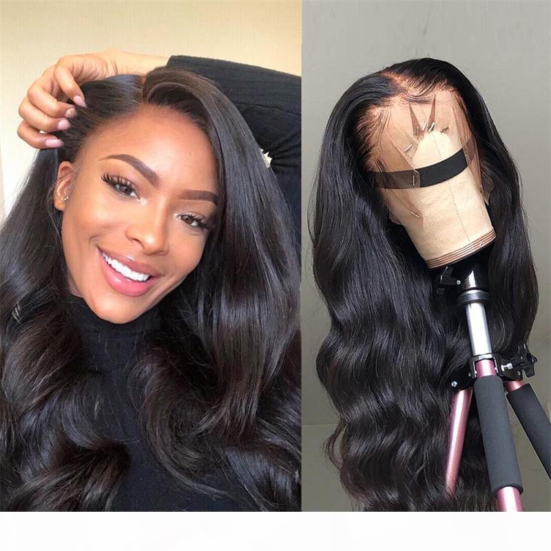 Brasileño Malasia Cabello Virginal Body Wave 360 Peluca de encaje Encaje suizo con cabello bebé Planera Planera Natural Peinada 8 ~ 24 pulgadas para mujeres negras