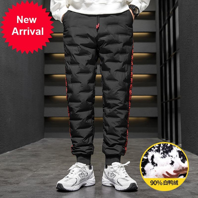 2020 winter outdoor wind down pants men outside a man wear warm duvet cotton youth sports leisure trousers