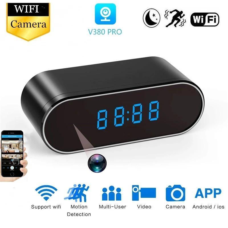 HD 1080 P Mini Kamera Saati Alarm Gece Görüş Hareket Algılama WIFI IP Kam Cam DV DVR Kamera Ev Güvenlik Gözetim