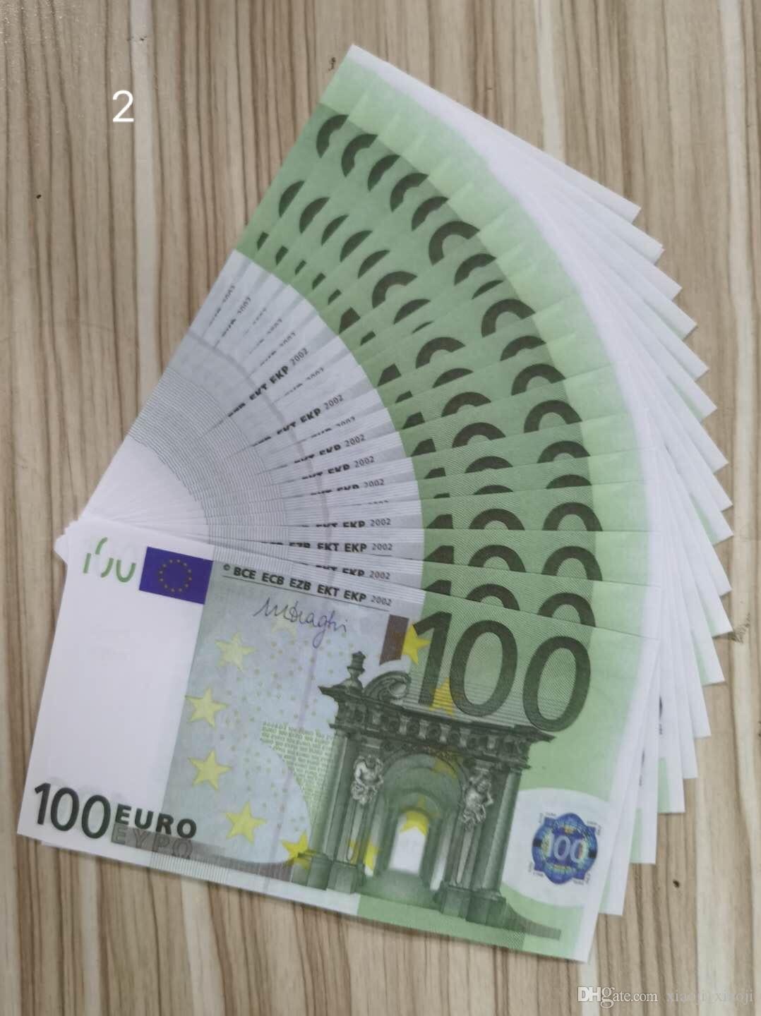 100 Euro Movie Most Prop copia denaro Nota 14 Play Play Realistic Bank Bank Business Fake Paper Money For Collection Nightclub Nleks