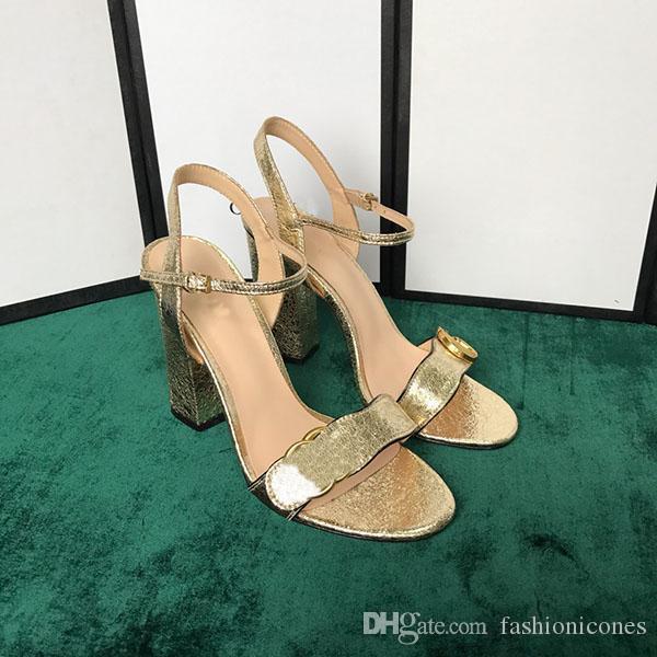 Yeni Stil kadın Klasik Ayakkabı Moda Gerçek Deri Sandalet Bayanlar Yüksek Topuk Düğün Ayakkabı Sandalet Yaz En Kaliteli Orijinal Bo ile