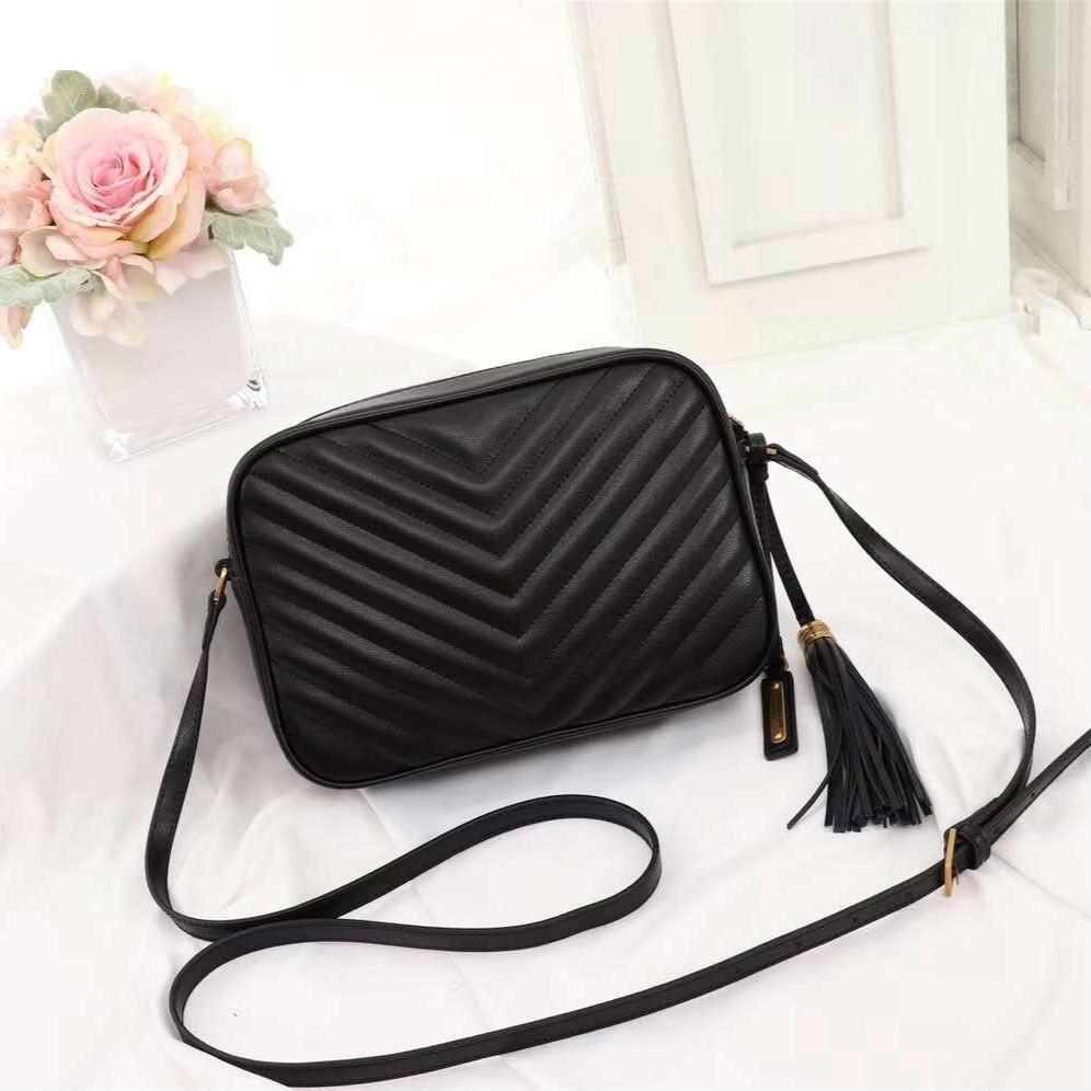 Designer Qualität Crossbody Hot echte 2020 Frauen Verkauf Hohe Leder Umhängetaschen Messenger Mode Handtaschen Geldbörsen Luxurys Quasten Tasche Tuhw