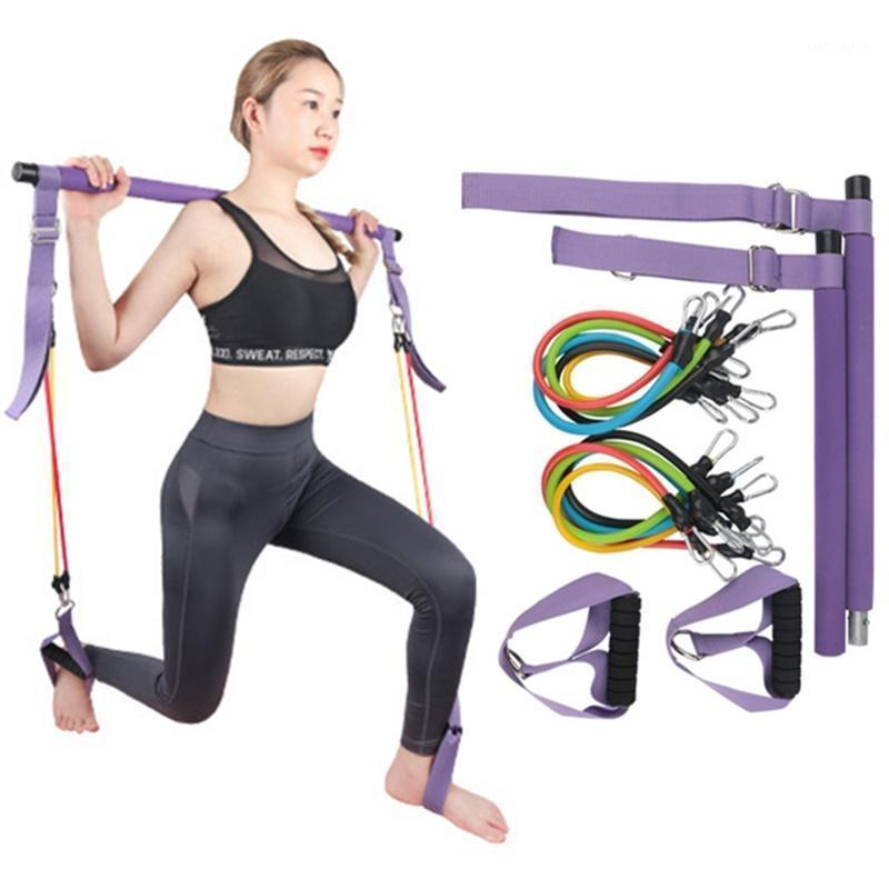 100LB многофункциональные пилатес батончики установить портативное упражнение йоги резистентность резистентности, растягивающееся домашнее тренажерный зал Фитнес оборудование1