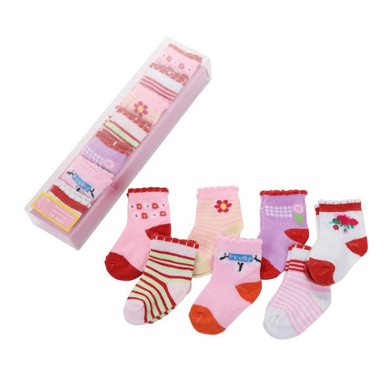 7 أزواج / الكثير طفل الفتيان الفتيات الجوارب للجنسين الرضع جورب مع هدية مربع مجموعة الاطفال منخفضة قطع القطن