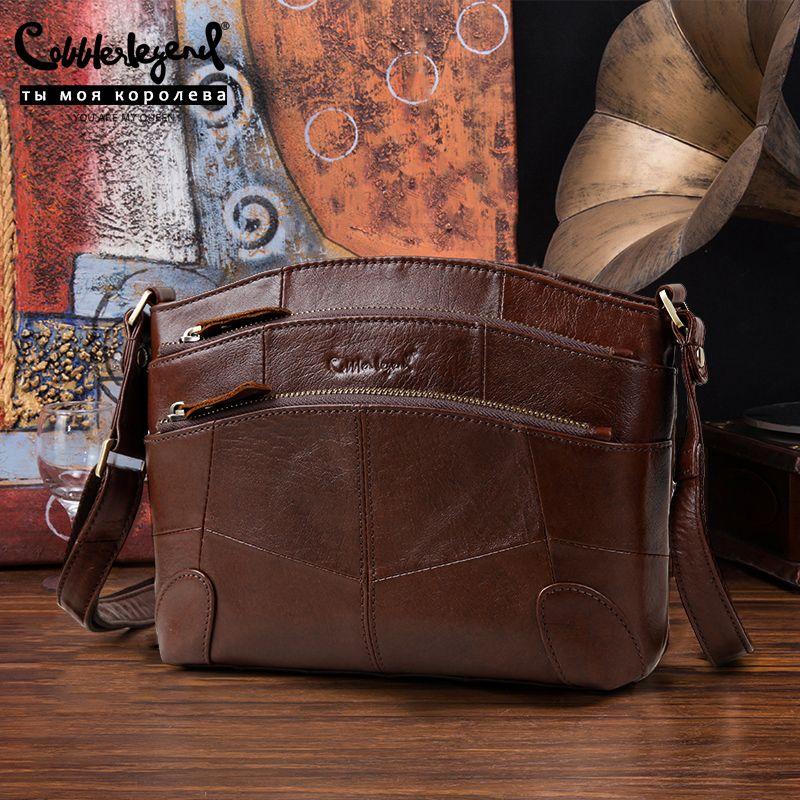 Cobbler Legend Damen Echte Ledertaschen Luxus Vielseitige Handtaschen Frauen Messenger Bags Designer Berühmte Marken Hohe Qualität