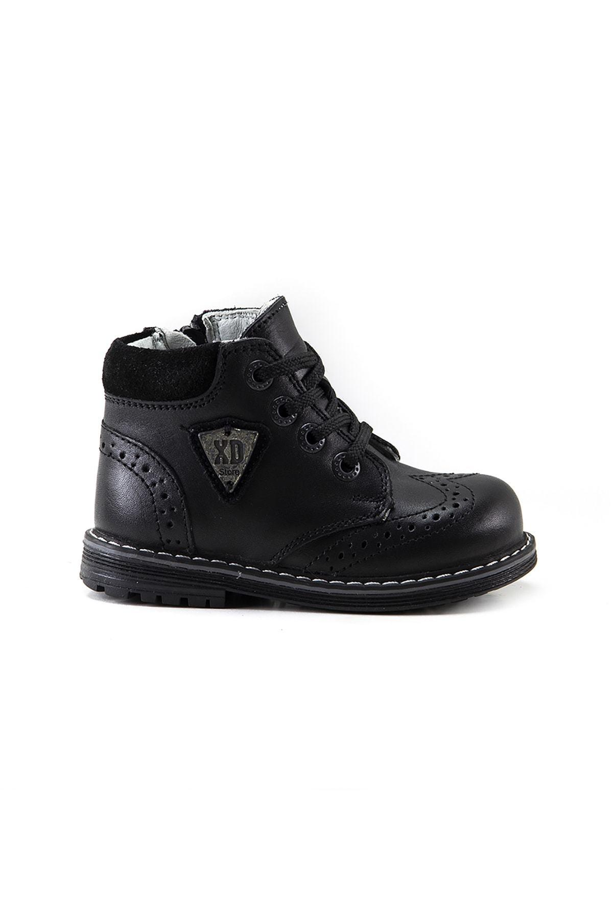 Bottes orthopédiques en cuir noir garçon, taille 21-22, chaussures de pluie de neige, soutien spécial du talon et de la cheville, des chaussures pour enfants