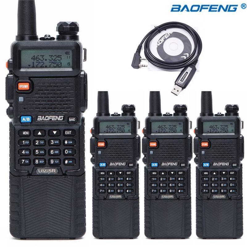 4 adet Baofeng UV-5R 3800 Walkie Talkie 5 W Çift Bant UHF 400-520 MHz VHF 136-174 MHz İki Yönlü Radyo Taşınabilir Walkie Talkie CB Radyo