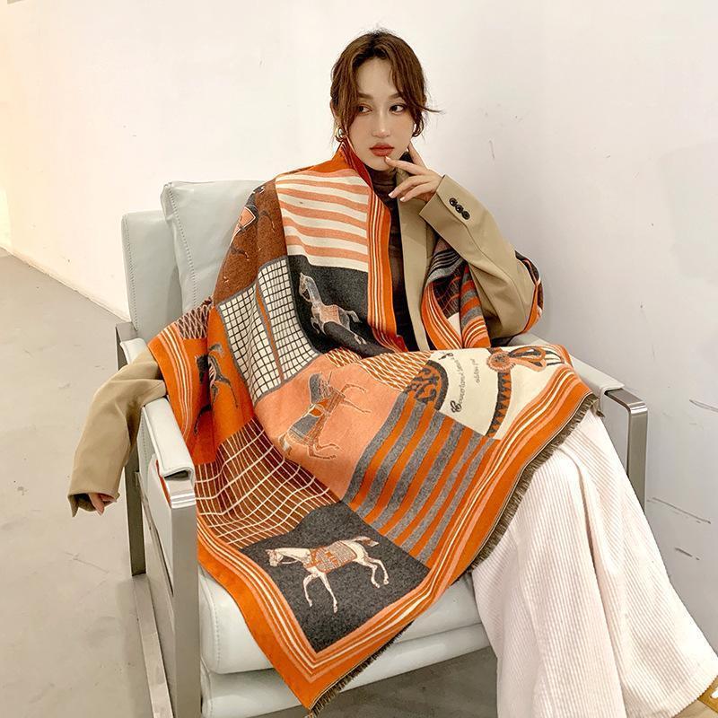 Brand Designer Cashmere Sciarpa di alta qualità Foulard Bandana Lunga Lrage Shawls WRPS Inverno Blanket Bandana 2020 New1