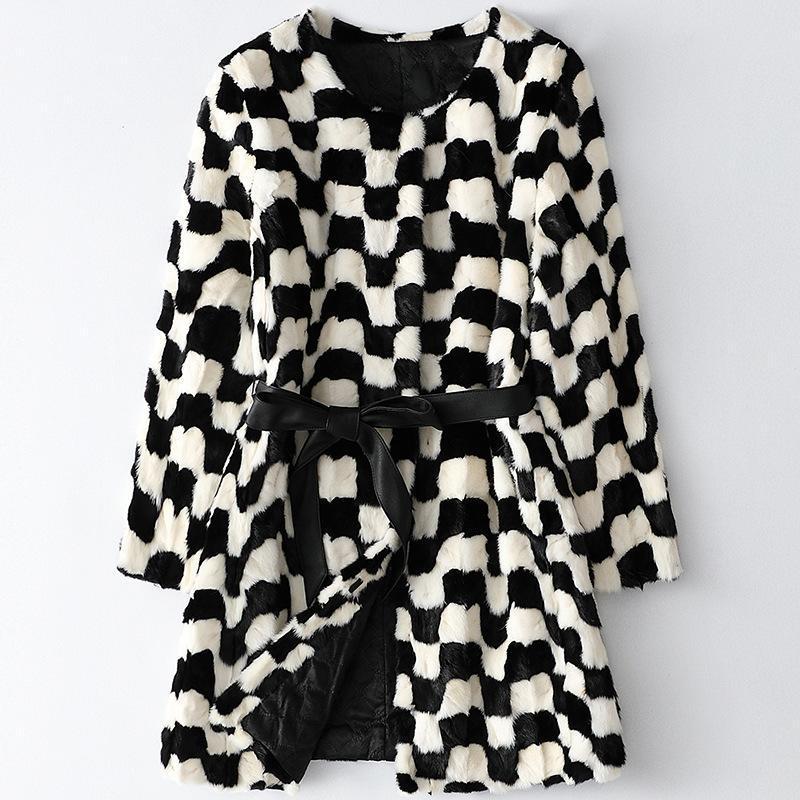 여성용 모피 가짜 2021 여성 코트 겨울 나는 Gia Bomber Jacket 자켓입니다.