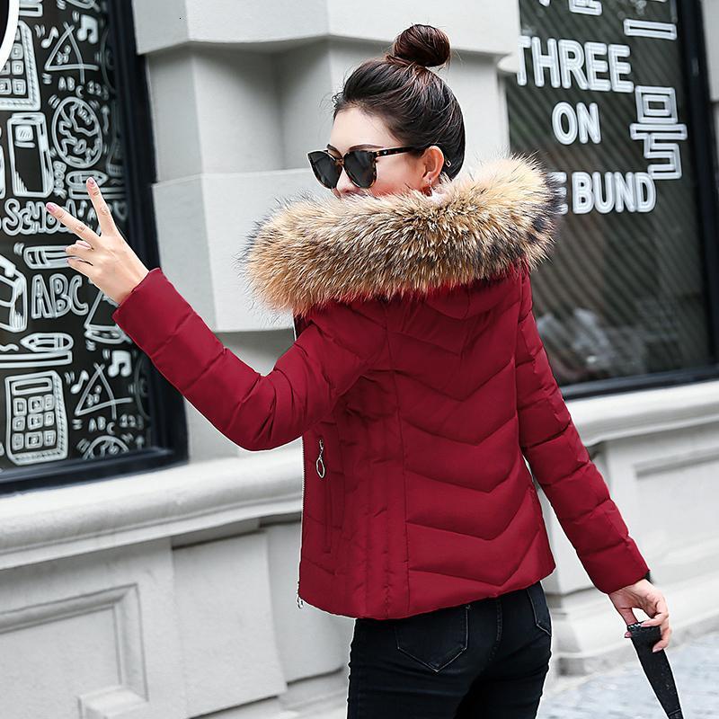 Veste courte pour hiver 2019 Grande veste pour femme avec cuillère à capuche PAKA PAKA Peau Grand Scadoutte maigre et chaude pour l'automne