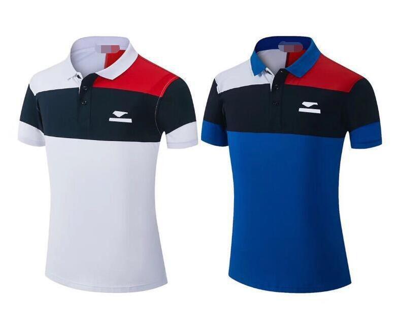 T-shirt à manches courtes en jersey Polyester Polo Sèche-motifs à séchage rapide pour hommes Cross-country Revers de rachat rapide
