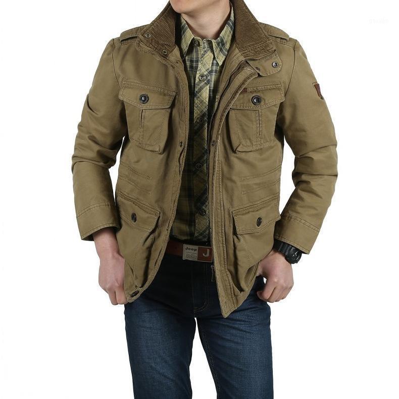 Desconto de folga 2020 nova jaqueta grande tamanho grande 3xl jaqueta de algodão homens casual primavera caça casaco homens casacos1